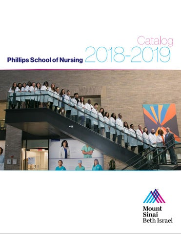 Phillips School or Nursing 2018 2019 Catalog by Mount Sinai