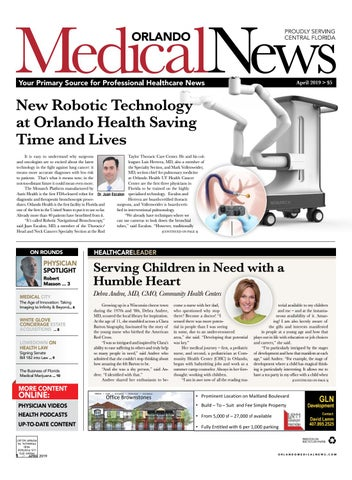 Orlando Medical News April 2019 by Orlando Medical News - issuu