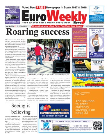 Euro Weekly News - Costa de Almeria 11 - 17 April 2019 Issue