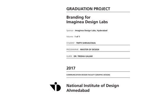 Branding - Imaginea Design Labs by Tripti Shrivastava - issuu