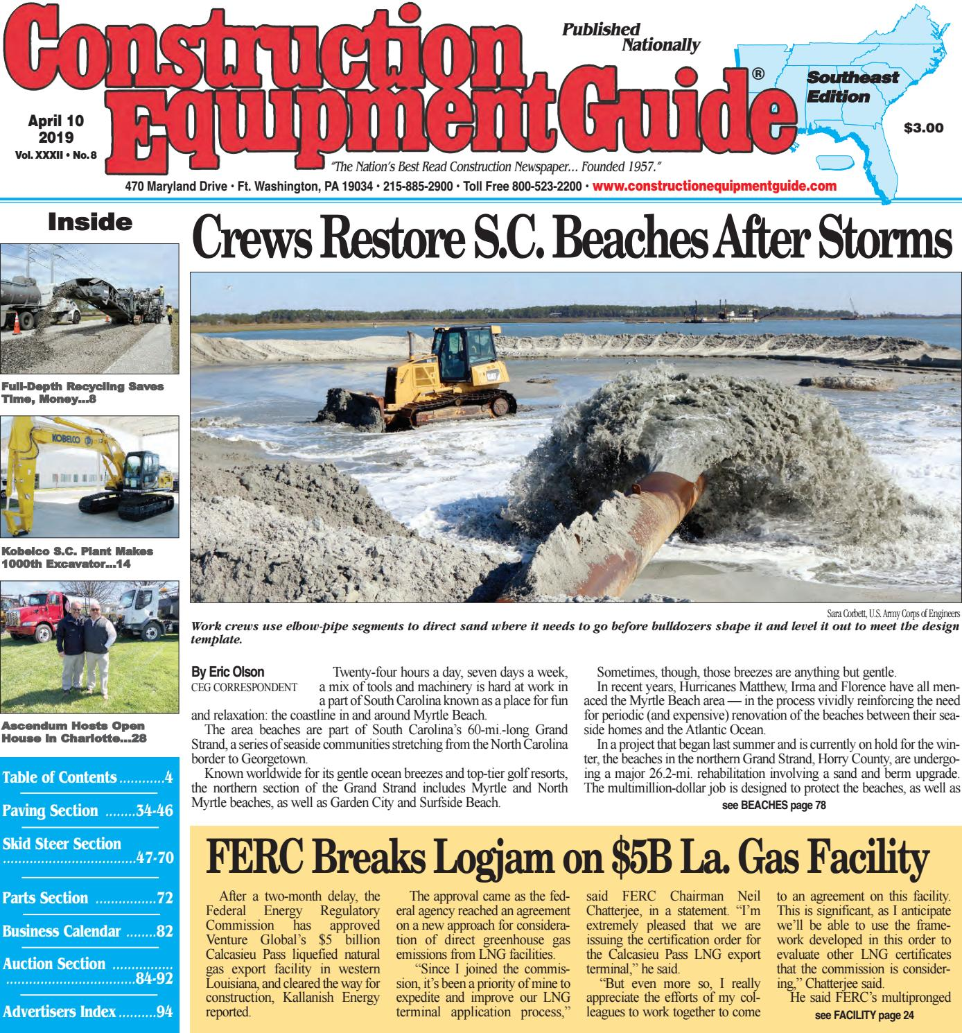 Southeast 8 April 10, 2019 by Construction Equipment Guide