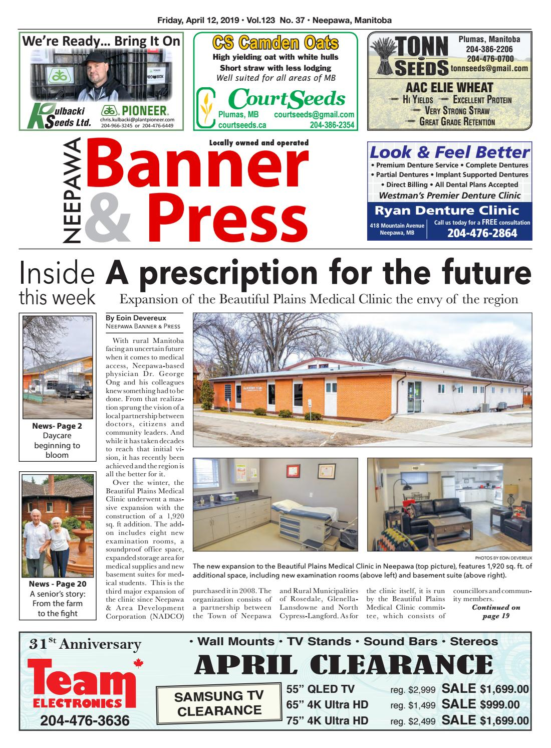 Friday, April 12, 2019 Neepawa Banner & Press by Neepawa