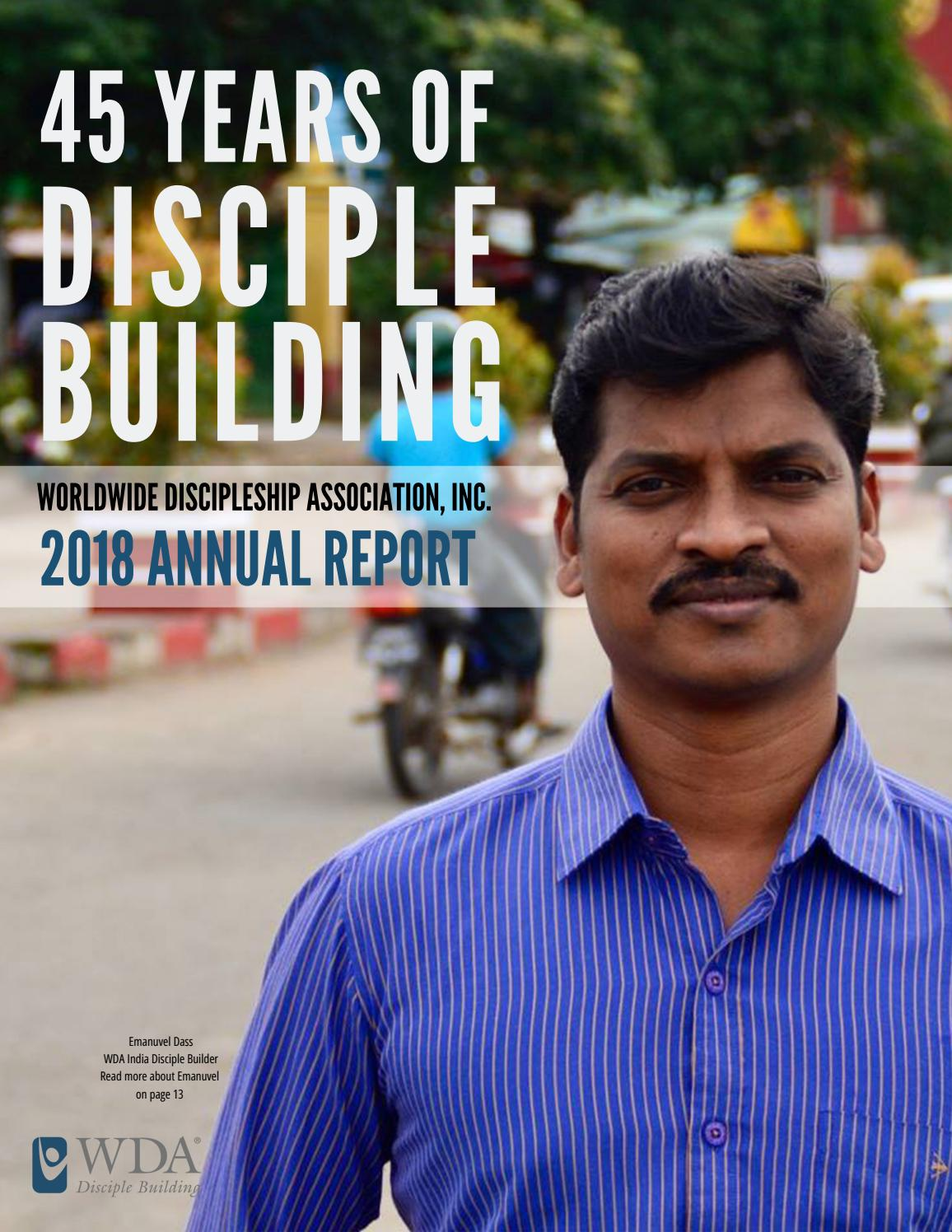2018 WDA Annual Ministry Report: 45 Years of Disciple Building