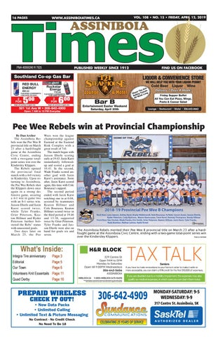 Assiniboia Times, April 12, 2019 by Assiniboia Times - issuu