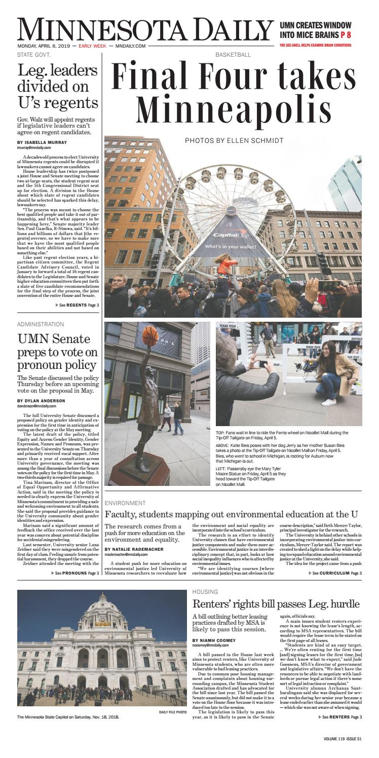 April 8, 2019 by The Minnesota Daily - issuu