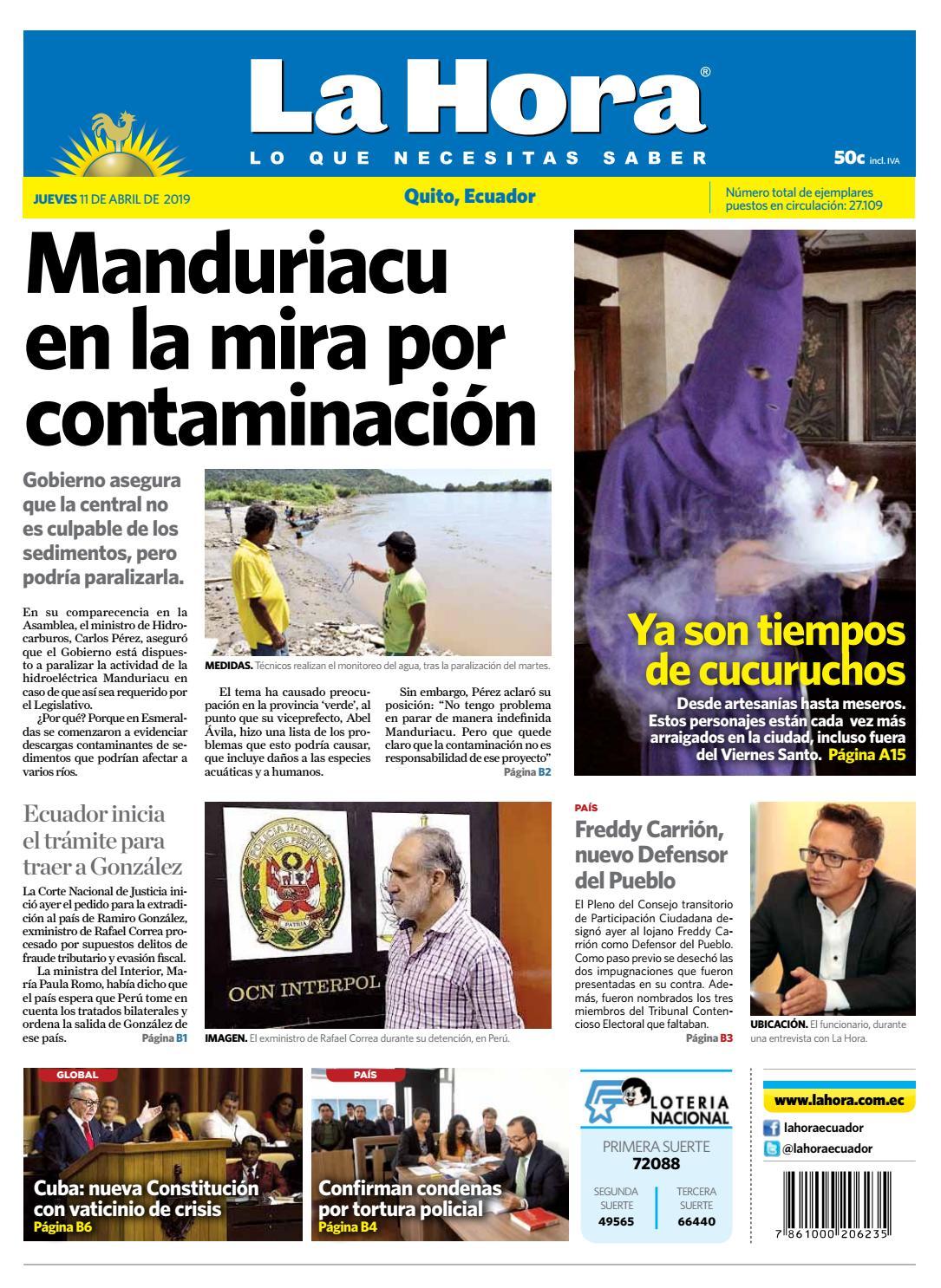 6ef2970162f2 Quito 11 de abril de 2019 by Diario La Hora Ecuador - issuu