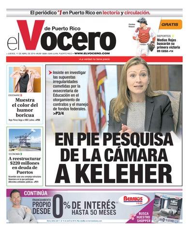 f1b33e53e8 Edición del 11 de abril de 2019 by El Vocero de Puerto Rico - issuu