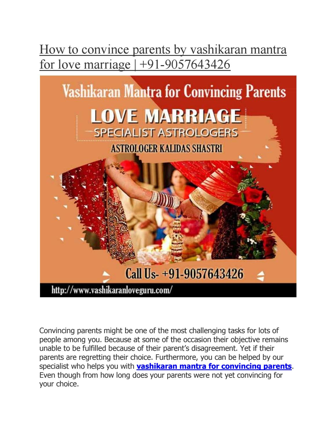 How to convince parents by vashikaran mantra for love