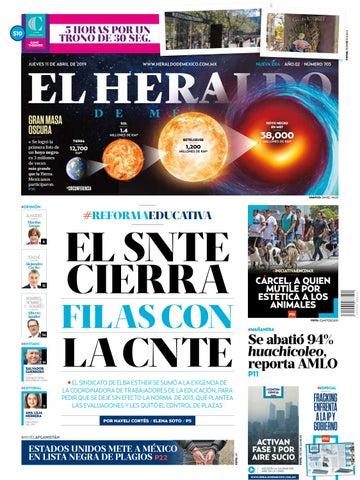 eeb176fb9c Jueves 11 de abril del 2019 by El Heraldo de México - issuu