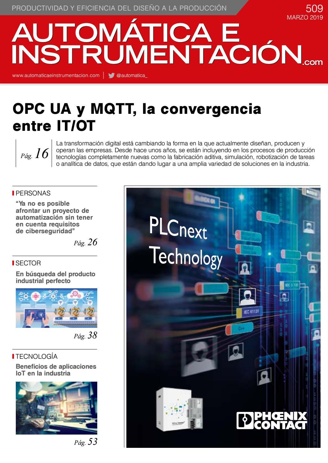fc19a030 Automática e Instrumentación - nº 509 by Versys Ediciones Técnicas, S.L. -  issuu