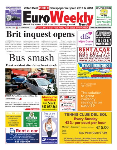 Euro Weekly News - Costa del Sol 11 - 17 April 2019 Issue