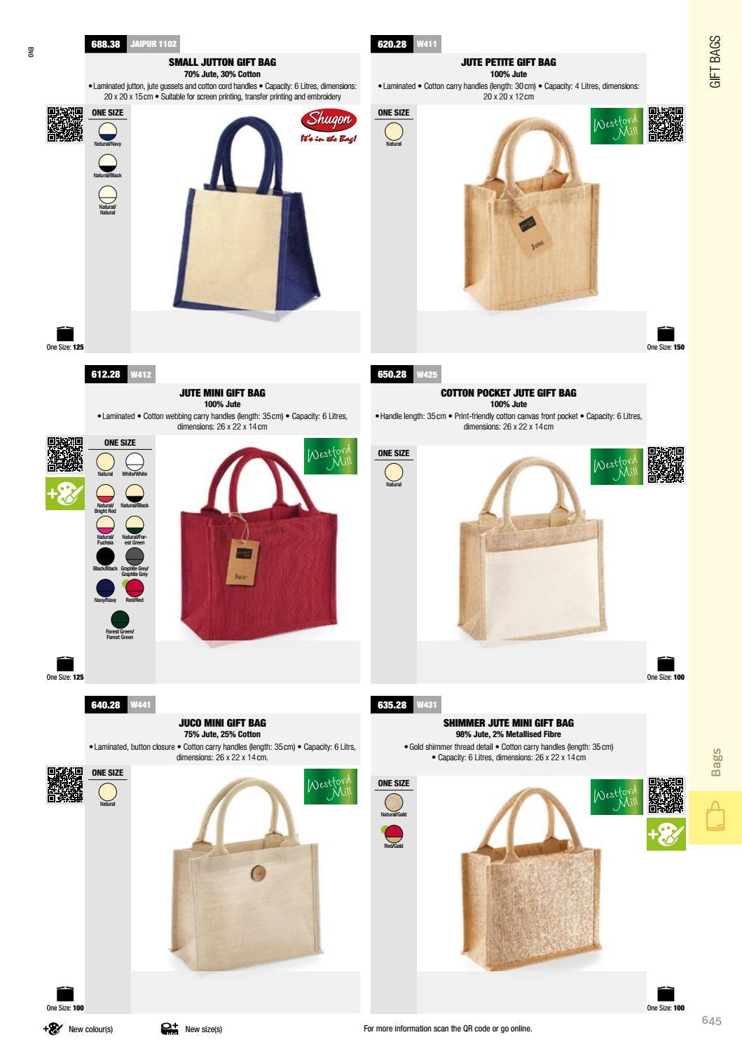 Westford Mill Shimmer Jute Mini Gift Bag 26 x 22 x 14cm