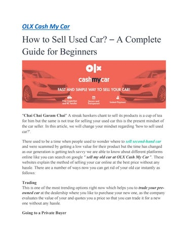 A Complete Guide Risks Of Selling Car Without Insurance By Olx