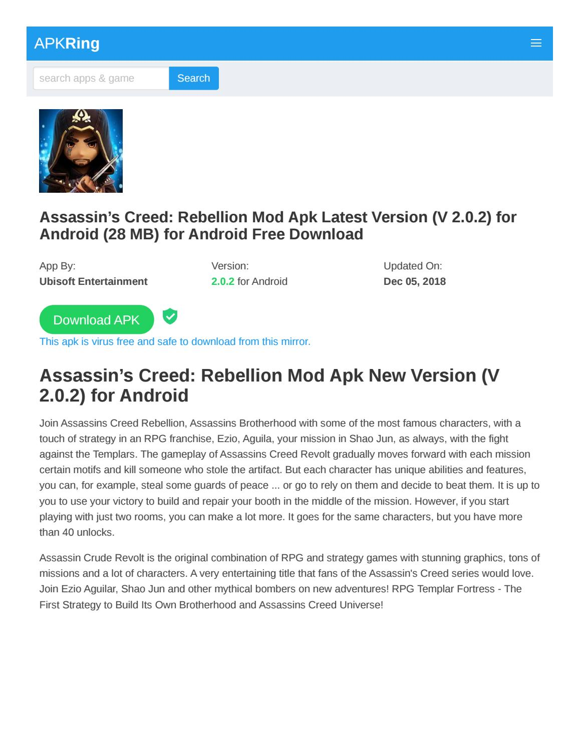 assassin's creed rebellion mod apk by Resultsbudy - issuu