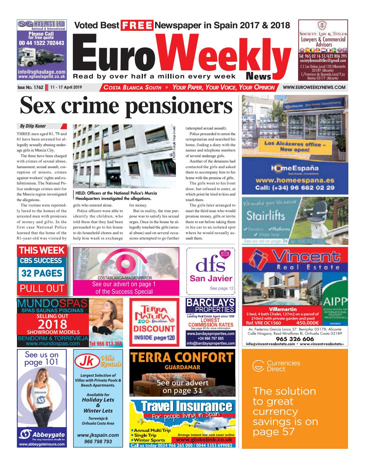 Euro Weekly News - Costa Blanca South 11 - 17 April 2019