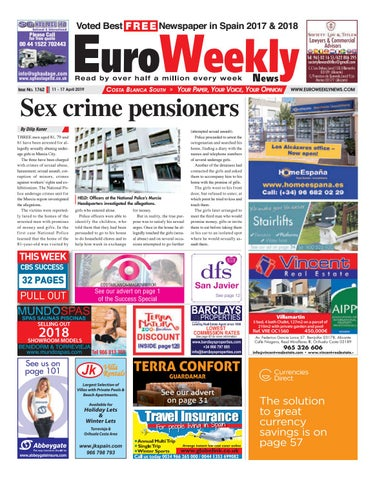 1816795450 Euro Weekly News - Costa Blanca South 11 - 17 April 2019 Issue 1762 ...