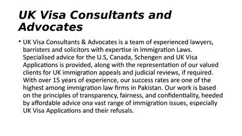 UK Visa Consultants & Advocates i by UK visa - issuu