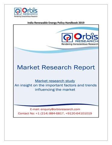 India Renewable Energy Policy Handbook 2019 by shyamr99999 - issuu