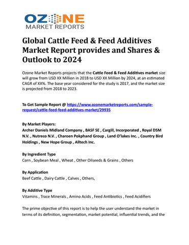 Global Cattle Feed & Feed Additives Market Report provides