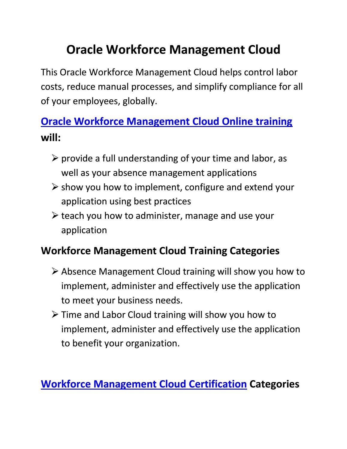 oracle workforce management online training by maxmunus7 - issuu