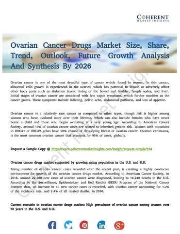 Ovarian Cancer Drugs Market Highlighting Regional Revenue Share By Poul Master Issuu