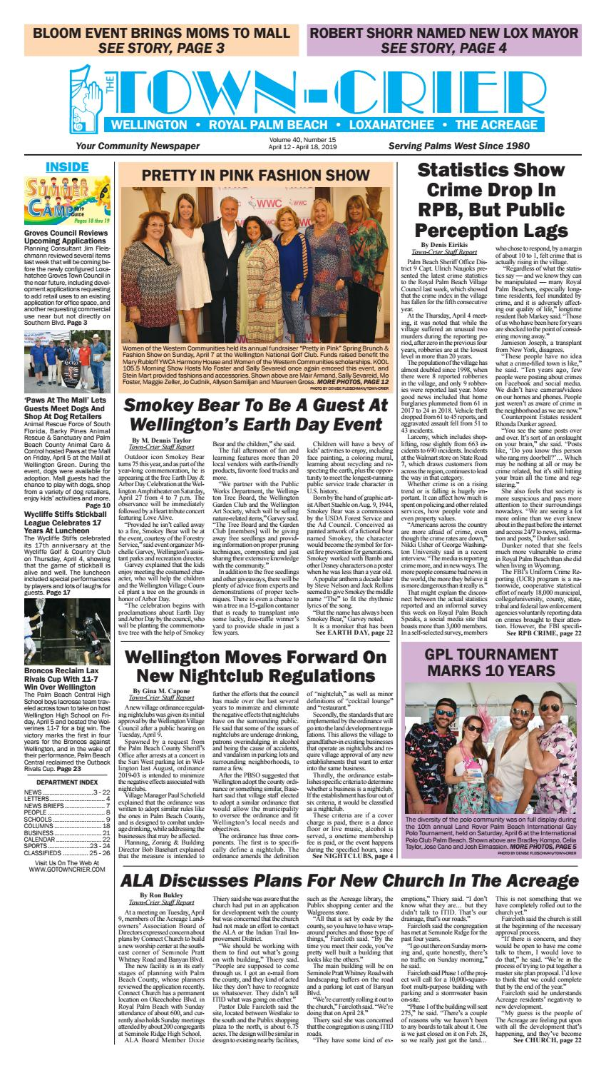 Town-Crier Newspaper April 12, 2019 by Wellington The