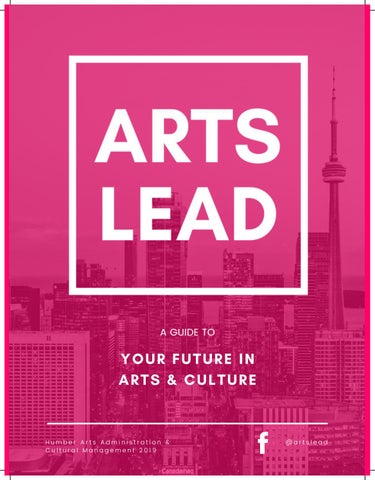 Page 1 of ARTS LEAD: A Guide to Your Future in Arts & Culture