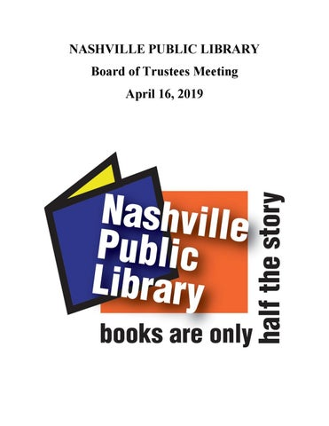 April 2019 NPL Board Packet by Nashville Public Library - issuu