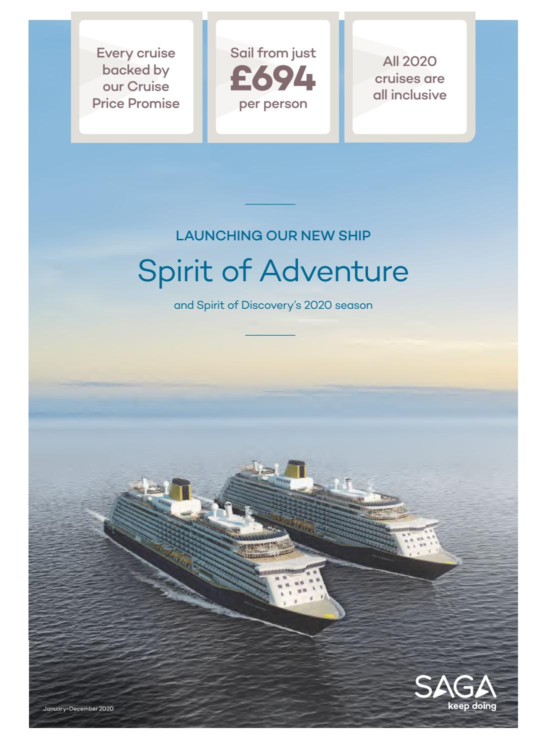 Cruise In December 2020.Saga Holidays 2020 Saga Cruise Season By Travel Designers