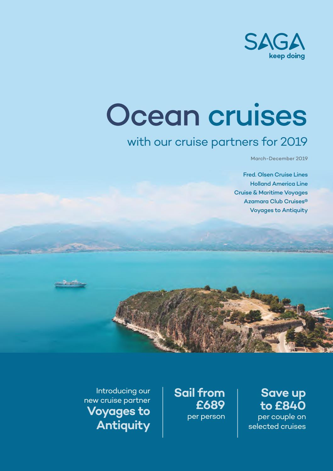 SAGA Holidays Ocean cruises with our partners for 2019 by Travel