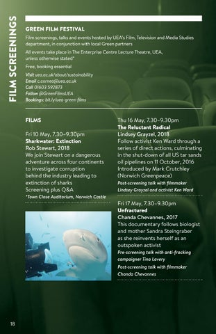 Page 18 of Green Film Festival at UEA - May 2019