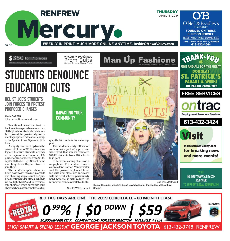 The Renfrew Mercury April 11 2019 By Metroland East Renfrew