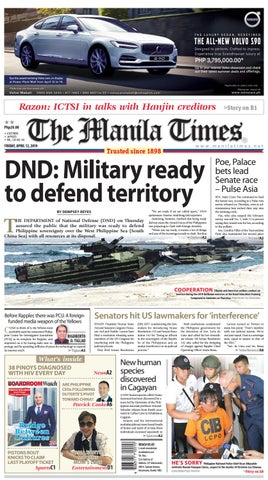 timeless design 23842 4dd50 THE MANILA TIMES   APRIL 12, 2019 by The Manila Times - issuu