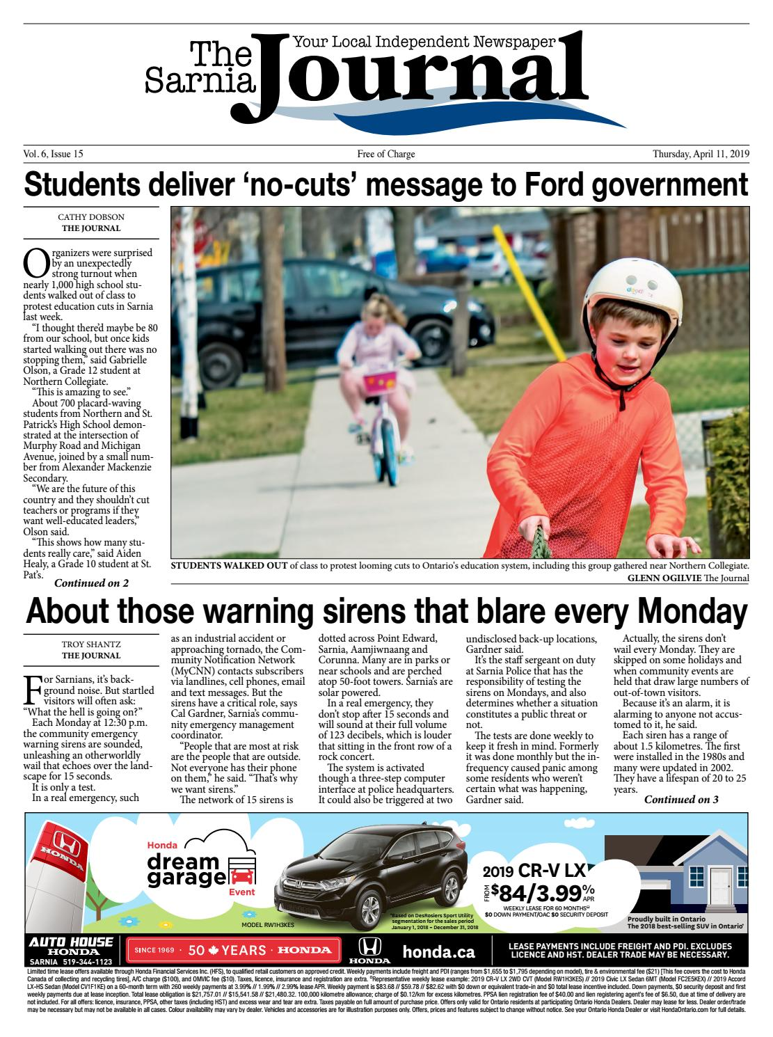 ee6d6e72 The Sarnia Journal - April 11 2019 by The Sarnia Journal - issuu