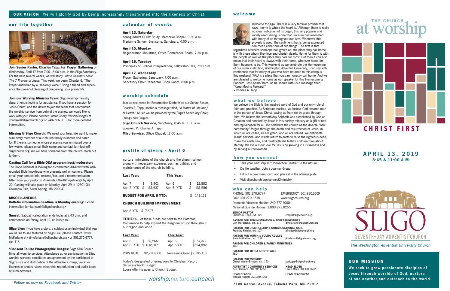 Sligo Church Bulletin by Sligo Church - issuu