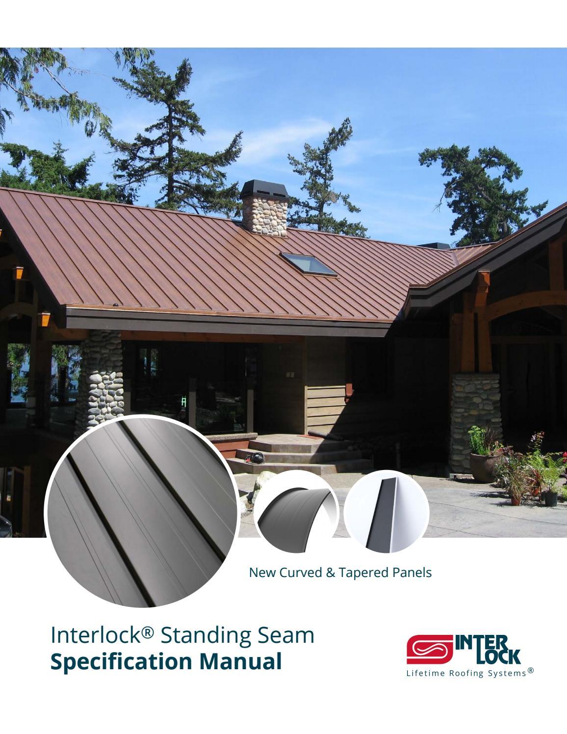 Interlock 174 Standing Seam Spec Manual By Interlock Metal
