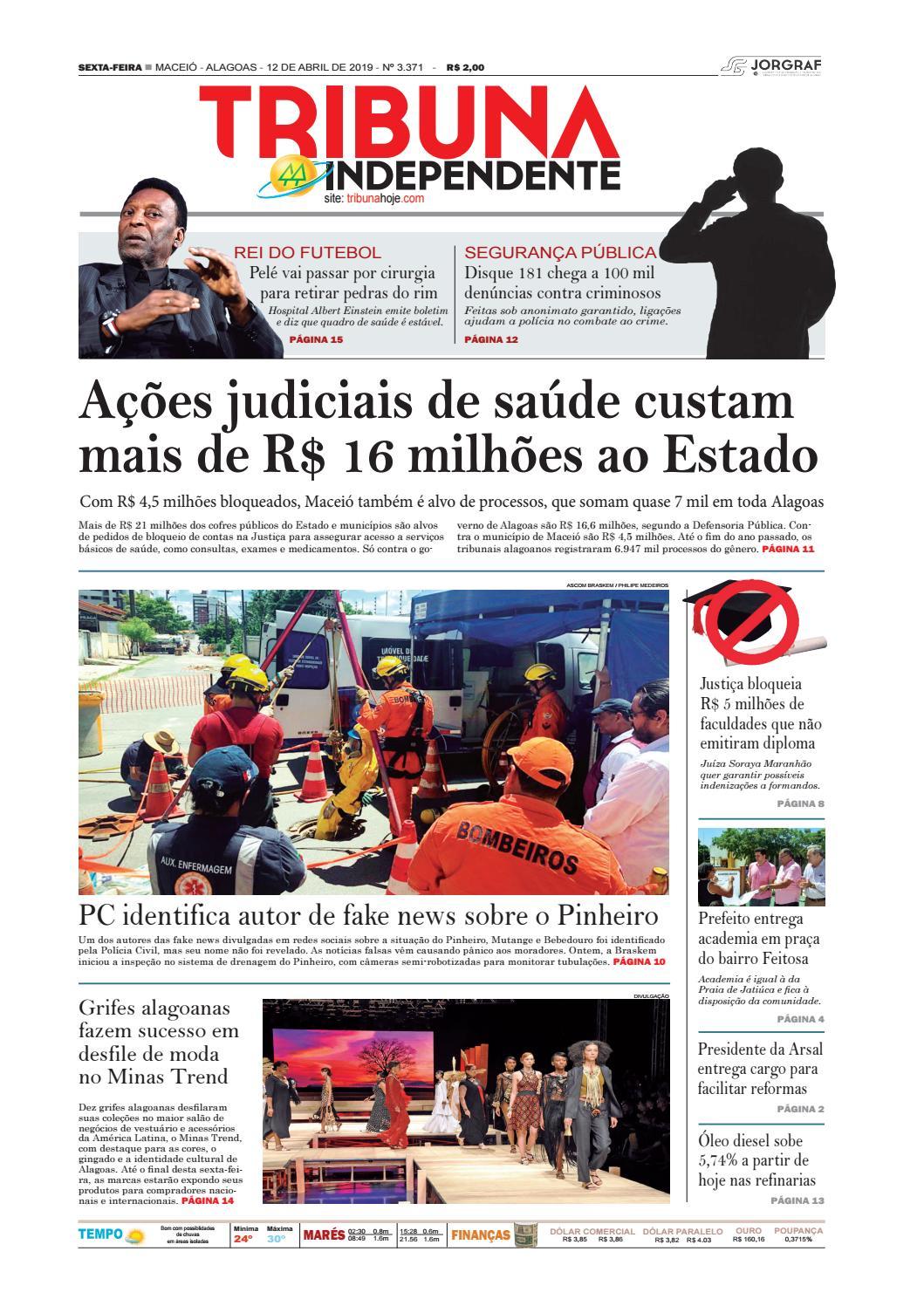 9f3135856 Edição número 3371 - 12 de abril de 2019 by Tribuna Hoje - issuu