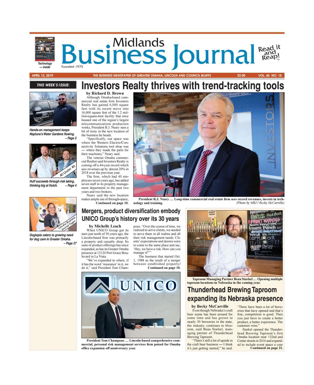 Midlands Business Journal April 12, 2019 Vol. 45 No.