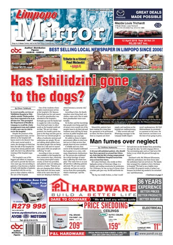 Limpopo Mirror 12 April 2019 by Zoutnet - issuu