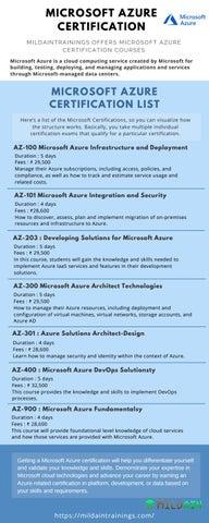 Microsoft Azure Training - Mildaintrainings by