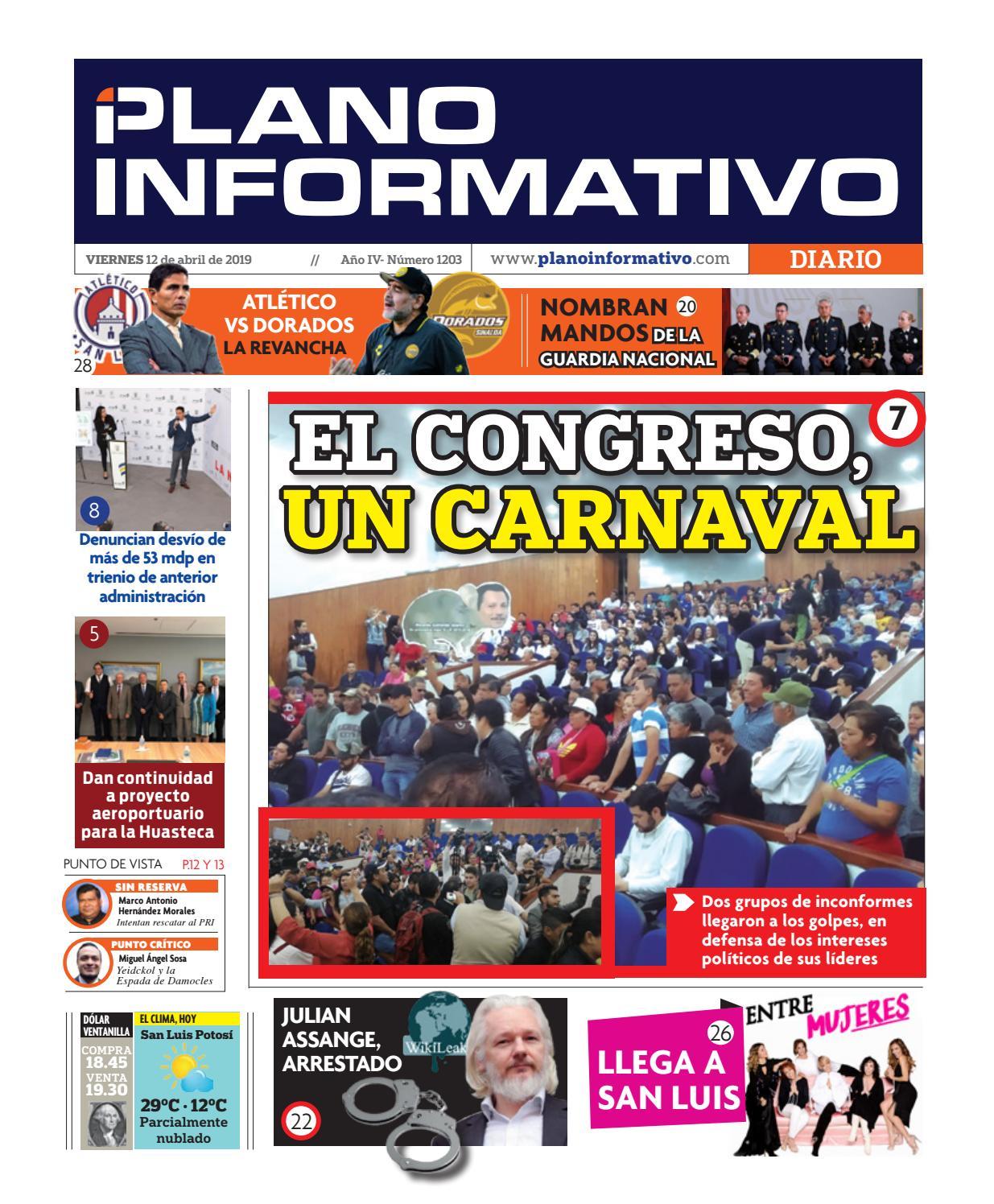 ff327dc60 Plano Informativo Impreso Año 4 No. 1203 by Plano Informativo - issuu