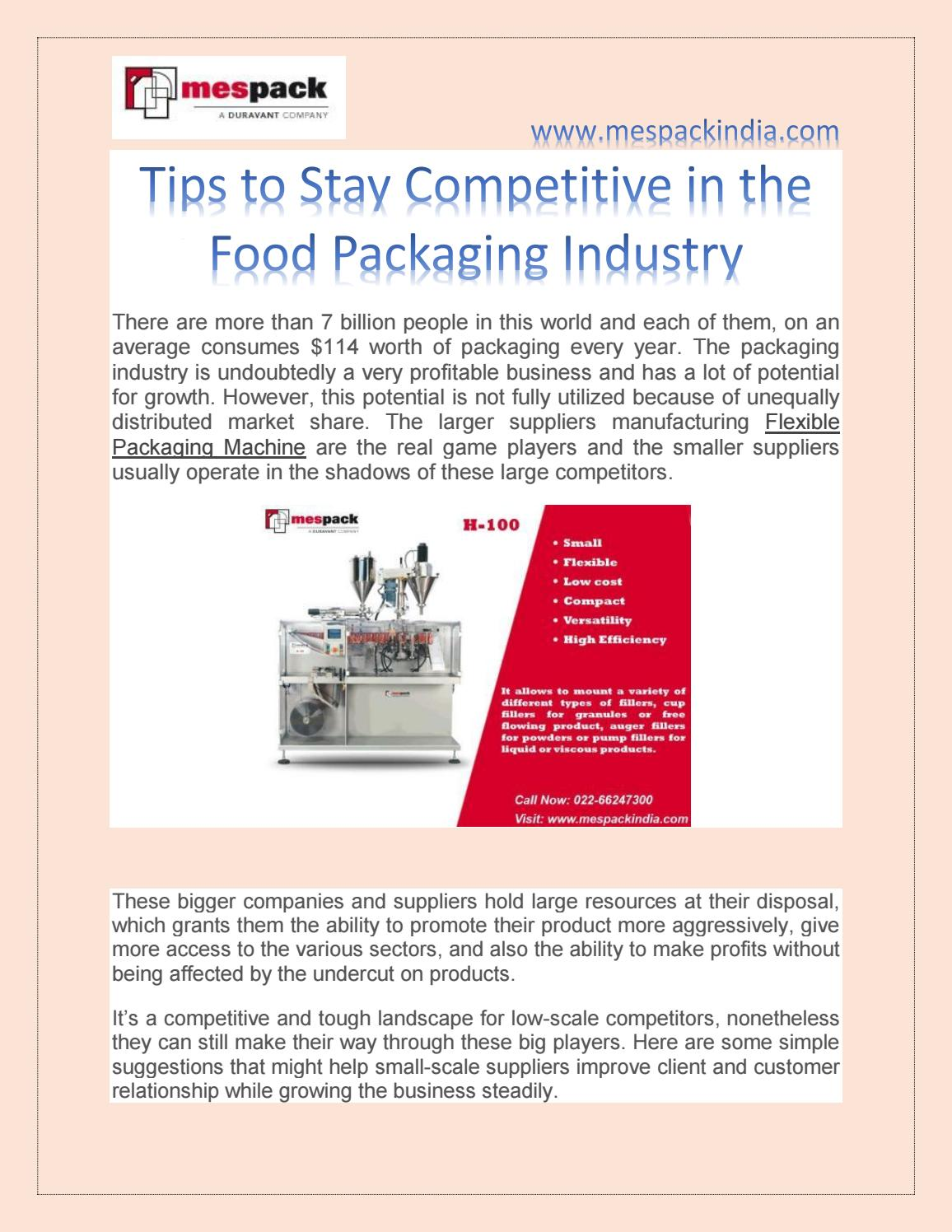 Tips to Stay Competitive in the Food Packaging Industry by