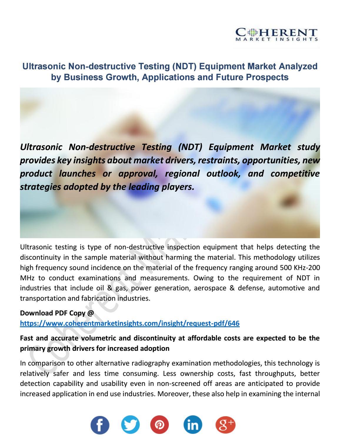 Ultrasonic Non-destructive Testing (NDT) Equipment Market by