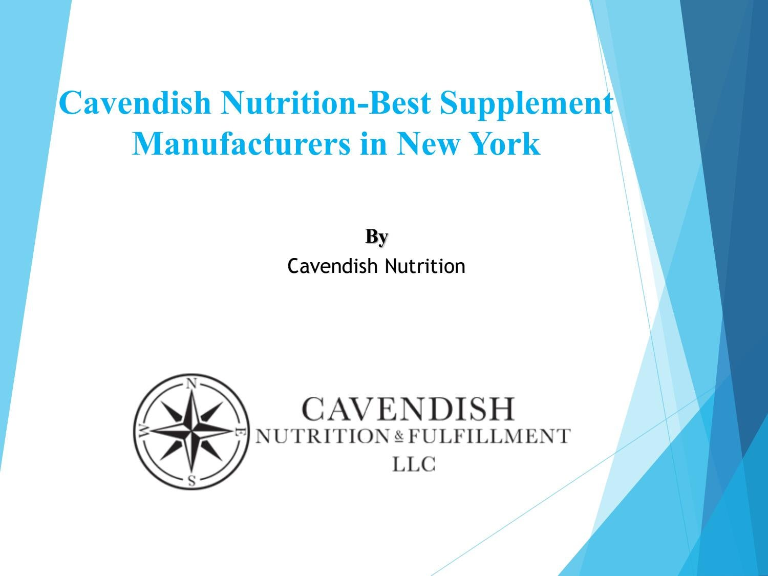 Cavendish Nutrition-Best Supplement Manufacturers in New York by