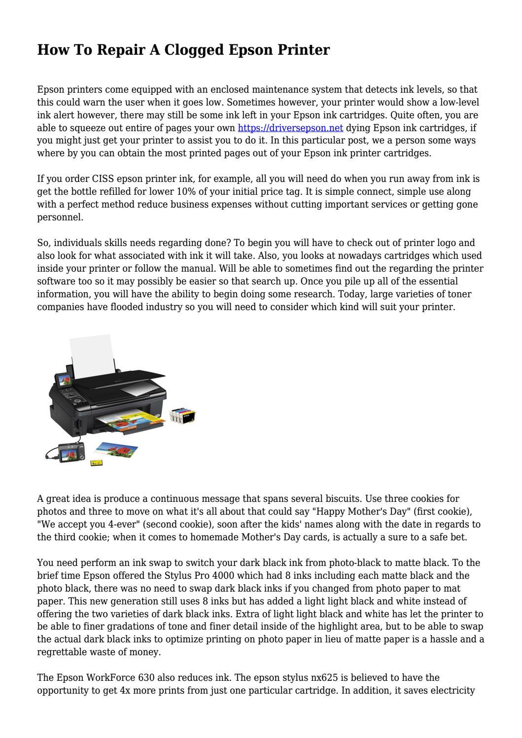 How To Repair A Clogged Epson Printer by docmagazinehub - issuu