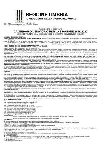 Campania Caccia Calendario Venatorio.Calendario Venatorio 2020 2020 Calendario 2020