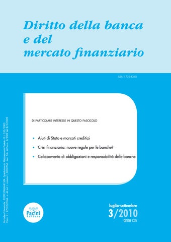 62ea60f36a Diritto della banca e del mercato finanziario 3/2010 by Pacini ...