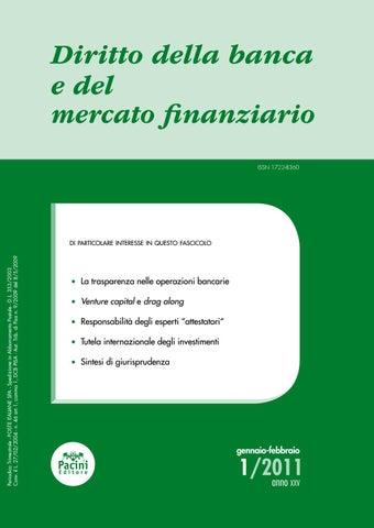 a2f7dd5b7c3464 Diritto della banca e del mercato finanziario 1/2011 by Pacini ...