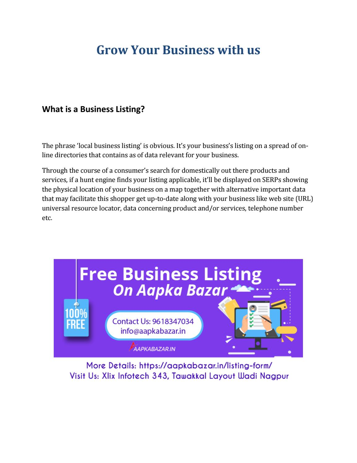 Free Business Listing India | Business Directory by aapkabazar12345