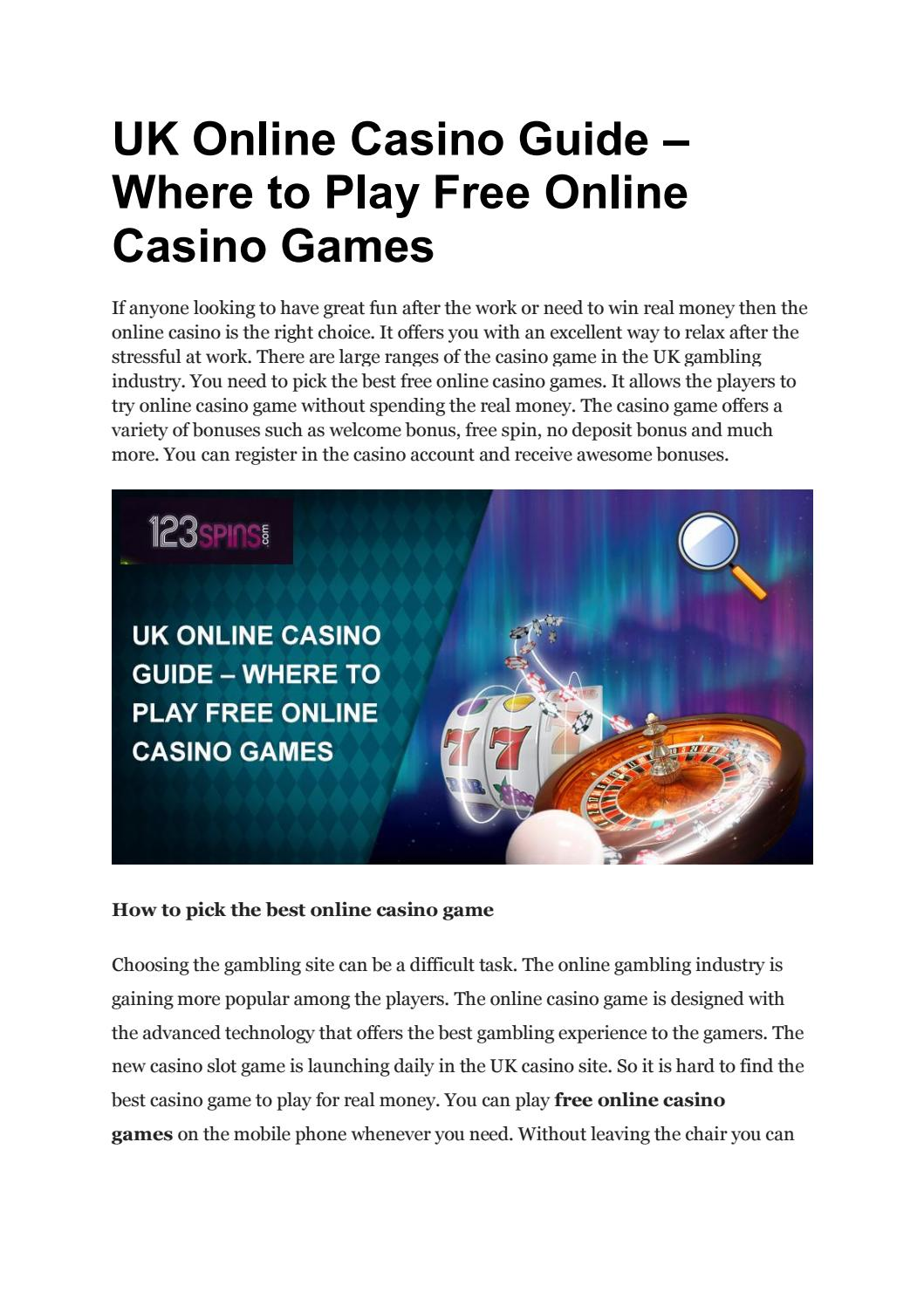 Uk Online Casino Guide Where To Play Free Online Casino Games By